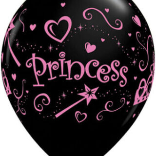black and pink princess balloon