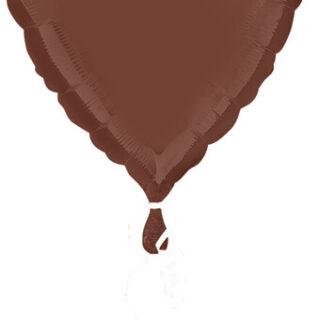 brown heart balloon