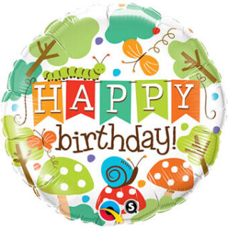 happy birthday bugs balloon