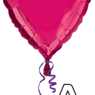 burgundy foil heart balloon