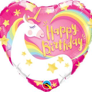 happy birthday unicorn balloon