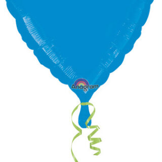 metallic blue heart balloon