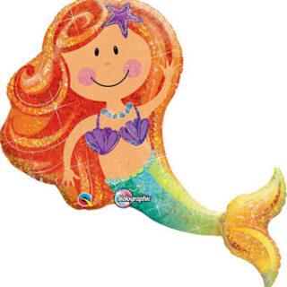 glittering mermaid balloon