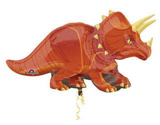 orange triceratops balloon