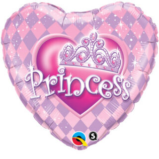 heart shaped princess balloon