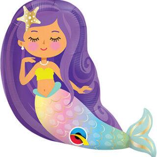 purple mermaid balloon