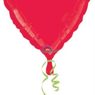 red foil heart balloon
