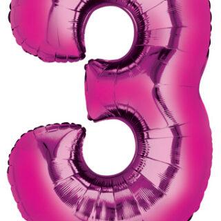 pink three balloon